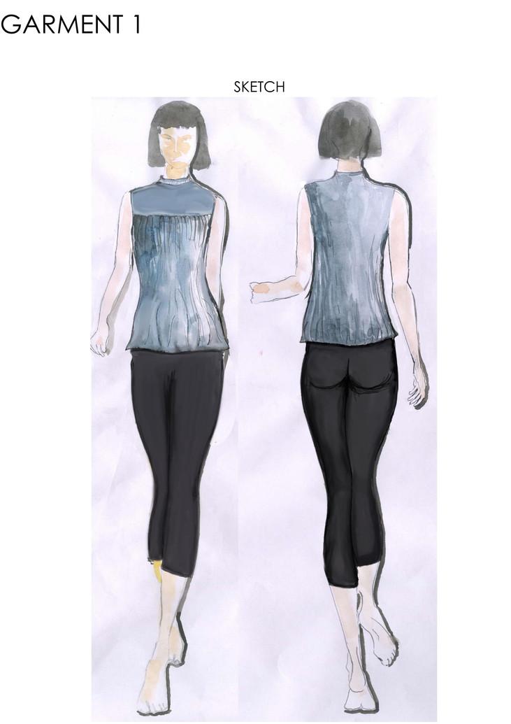 Sketch of 1st garment
