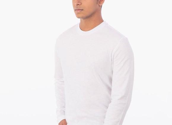 Antiviral white full sleeve t-shirt