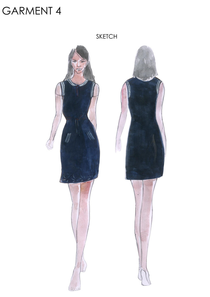 Sketch of 4th garment