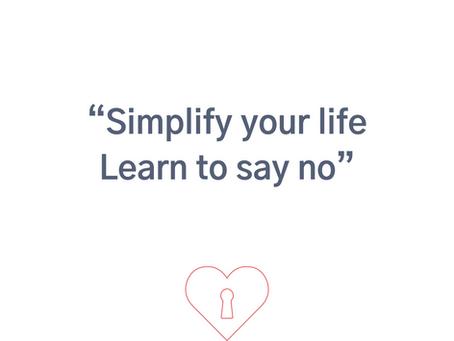 Leer NEE zeggen...