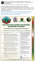 Bad River Business and Economic Development Discussion