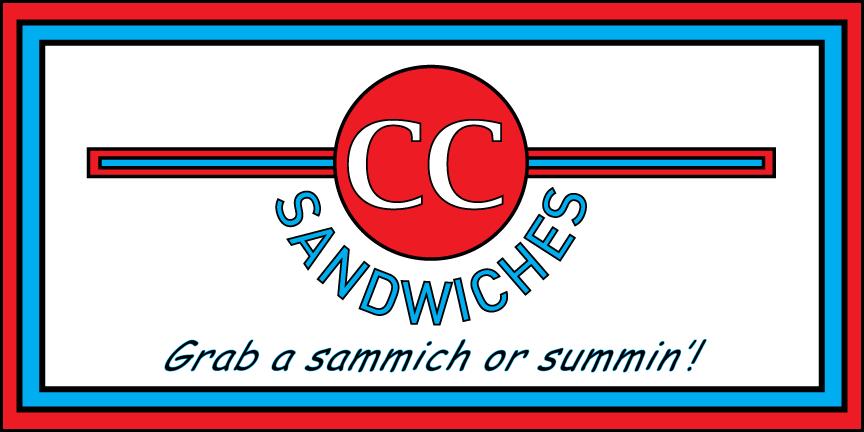CC Sandwiches Logo & Signage