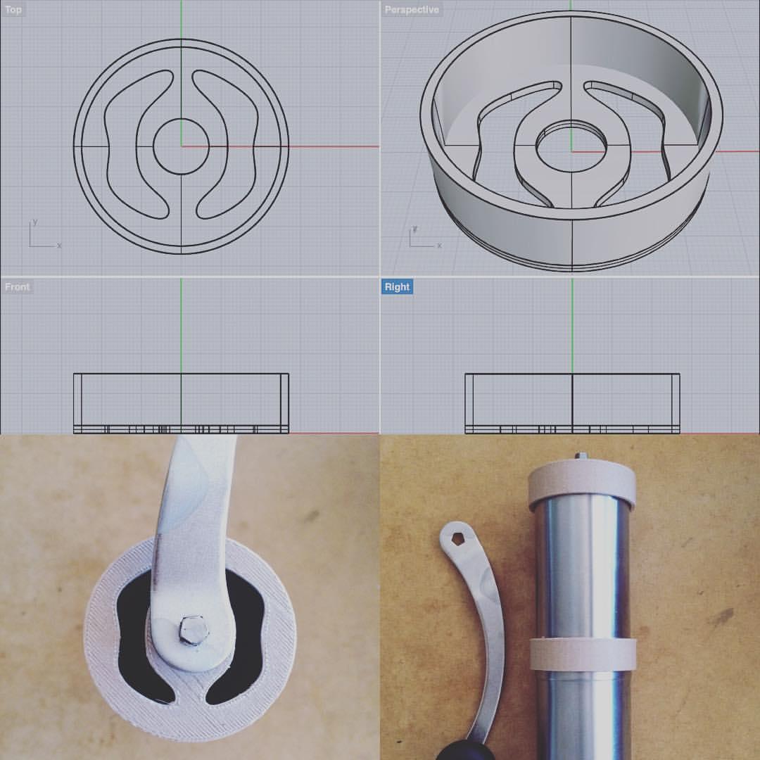 コーヒーミルの蓋を3Dプリンターで