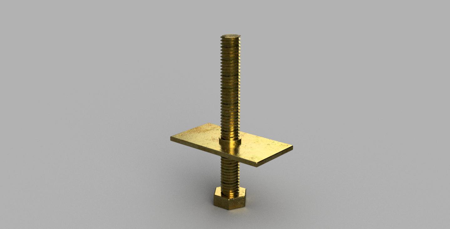 M8 真鍮ネジ 長方形ナット