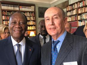 Le Président ivoirien Alassane OUATTARA à l'Académie des Sciences d'Outre Mer