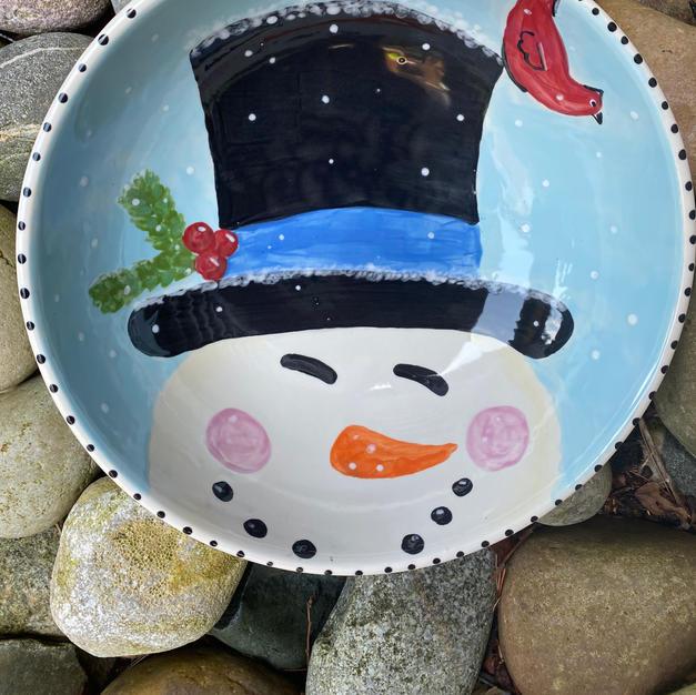 ZOOM-Smiling Snowman Bowl