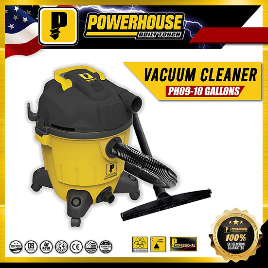 PowerHouse Wet & Dry Vacuum Cleaner 1,400W 10 Gallons (PH09-10Gallons)