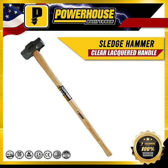Sledge Hammer w/ Hickory Wooden Handle (4 Lbs.)