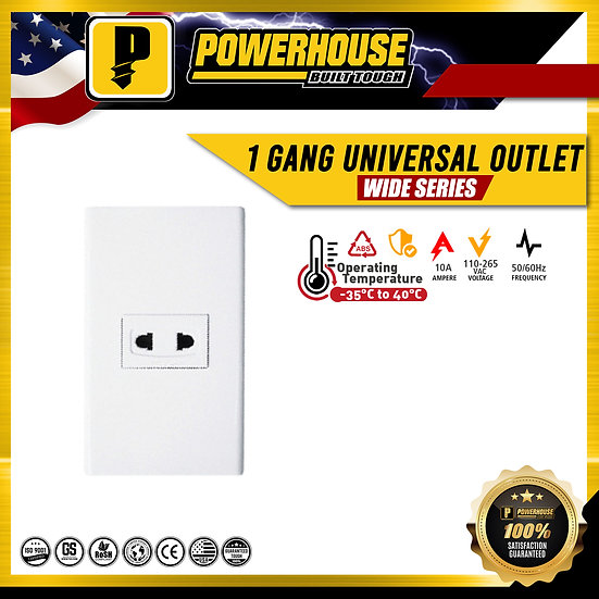 1 Gang Universal Outlet