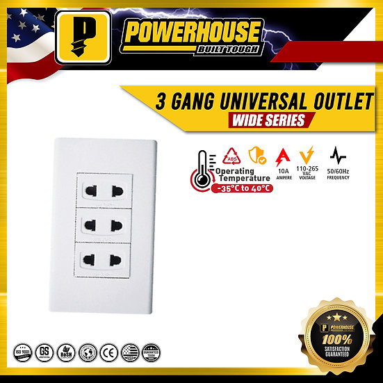 3 Gang Universal Outlet