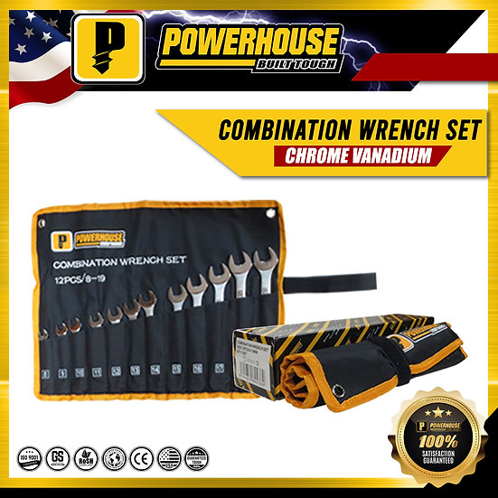 Combination Wrench Set (8mm-19mm) (12 pcs/set)
