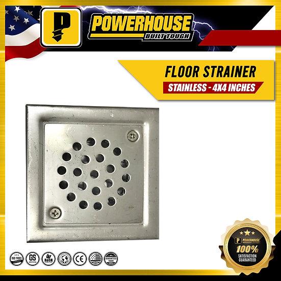 "Stainless Floor Strainer (4"" x 4"")"