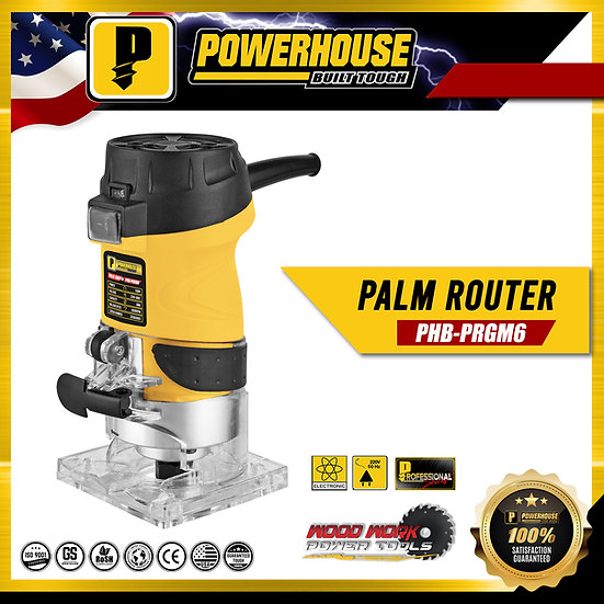 PowerHouse Palm Router w/ Quick Lock  6mm 500W (PHB-PRGM6)