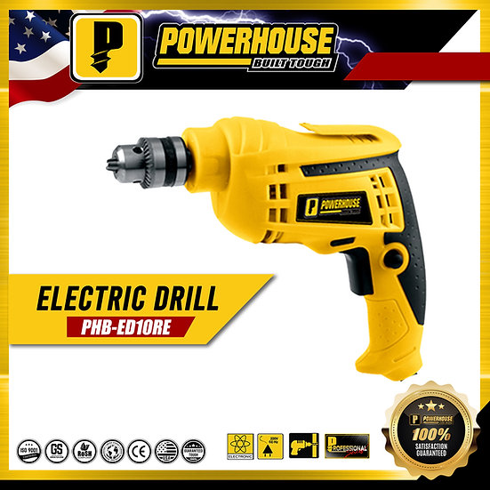 PowerHouse Electric Drill 600W 10mm (PHB-ED10RE)