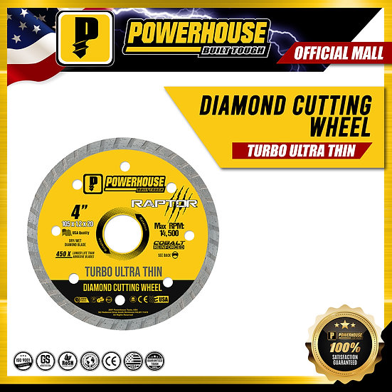 Diamond Cutting Wheel Ultra Thin (Raptor Series)