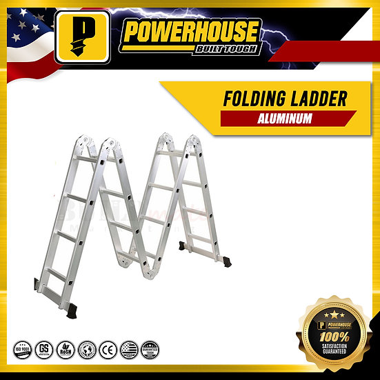 Aluminum Folding Ladder 12 ft.