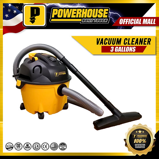 PowerHouse Wet & Dry Vacuum Cleaner 3 Gallons