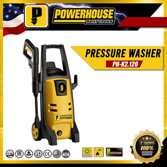 PowerHouse High Pressure Washer 120-Bar 1,500watts (PH-K2 120)