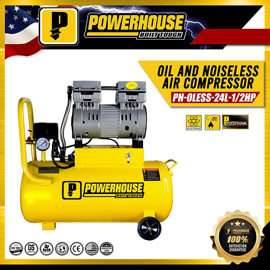 Oil and Noise Less Air Compresor 1/2HP