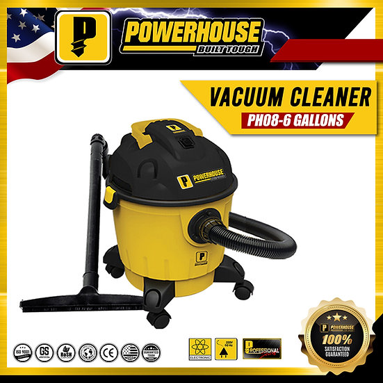 PowerHouse Wet & Dry Vacuum Cleaner 1,200W 6 gallons (PH08-6Gallons)