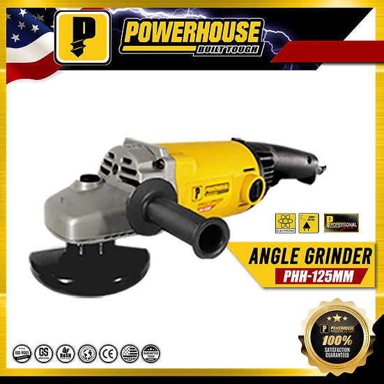 PowerHouse Angle Grinder 1150W / 10,000rpm (PHH-125MM)