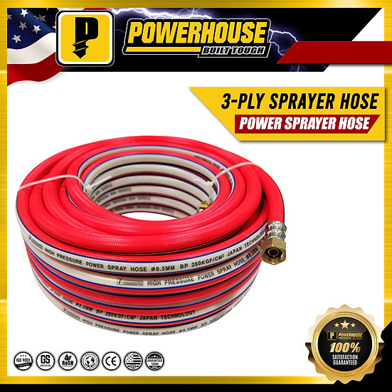 3-Ply Power Sprayer Hose 15 meters