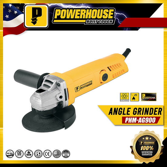 "PowerHouse Angle Grinder Torque Force w/ Back Switch 900W 4"" (PHM-AG900)"