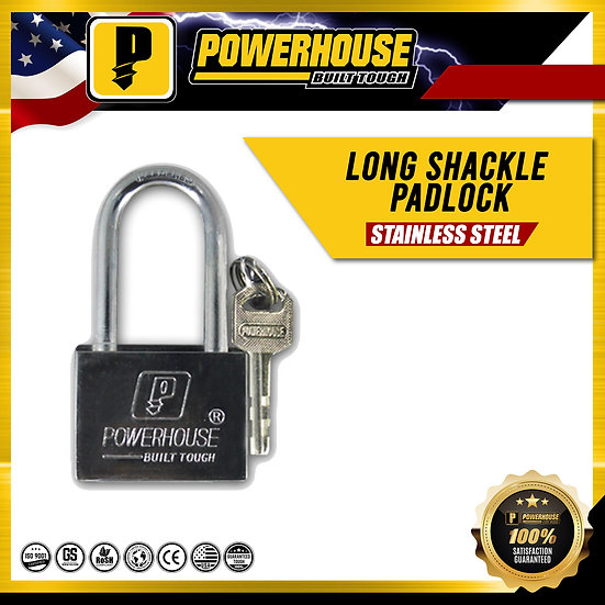 Long Shackle Padlock 30MM (Stainless Steel)