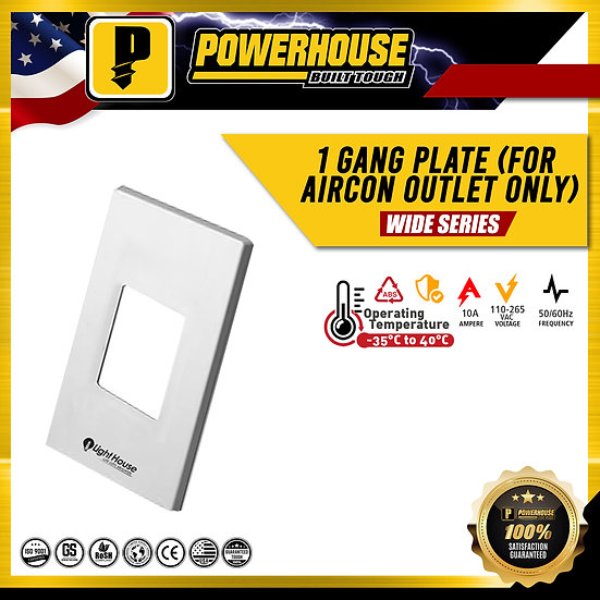 1 Gang Plate (only for Aircon Outlet)