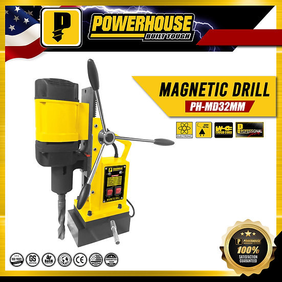 PowerHouse Magnetic Drill 32mm 1,600W 100% Copper (PH-MD32MM)