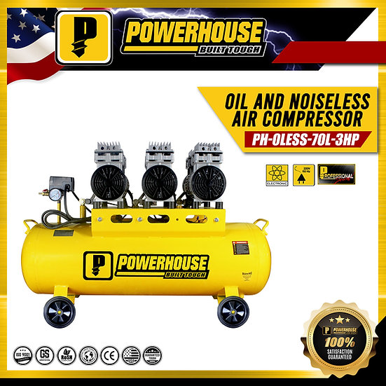 Oil and Noise Less Air Compresor 3HP