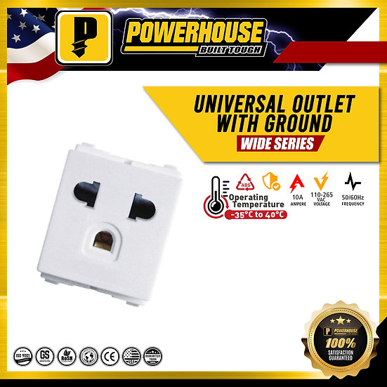 Universal Outlet with Ground