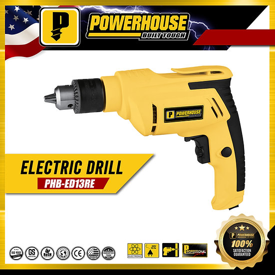 PowerHouse Electric Drill w/ Variable Speed 700W 13mm (PHB-ED13RE)