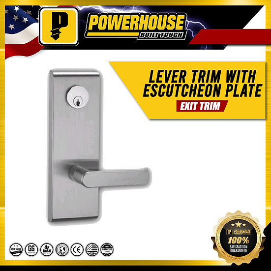 Lever Trim with Escutcheon Plate