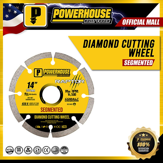 "Diamond Cutting Wheel Segmented 14"" (Raptor Series)"