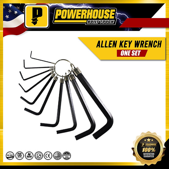 "Allen Key Wrench Set (1/16"" to 3/8"")"