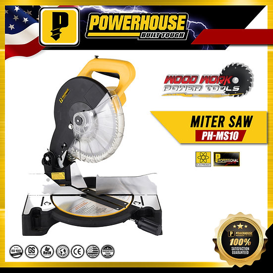 "PowerHouse Miter Saw 10"" 1,650W (PH-MS10)"