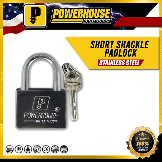 Short Shackle Padlock 50 MM (Stainless Steel)