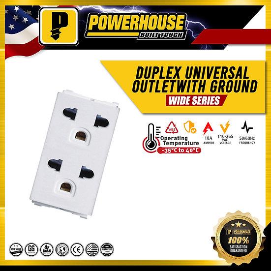 Duplex Universal Outlet w/ Ground
