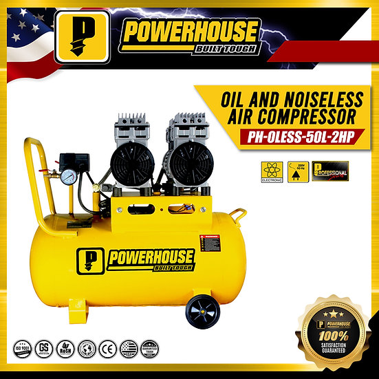 Oil and Noise Less Air Compresor 2HP