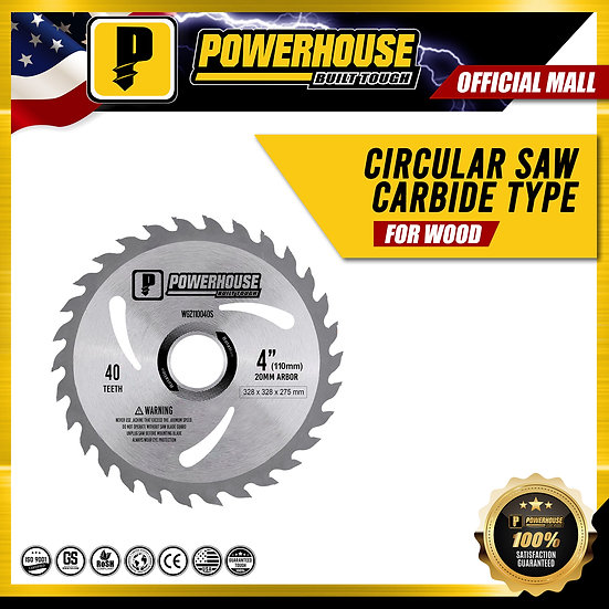 "Circular Saw Carbide Type for Wood (12"" x 40T)"
