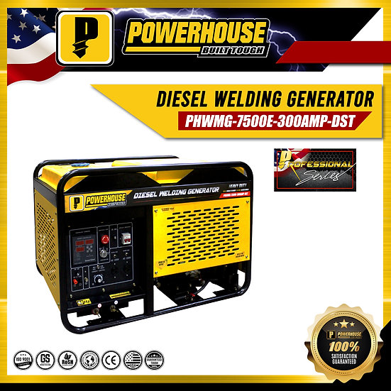 Diesel Welding Generator (PWHMG-7500E-300AMP-DST)