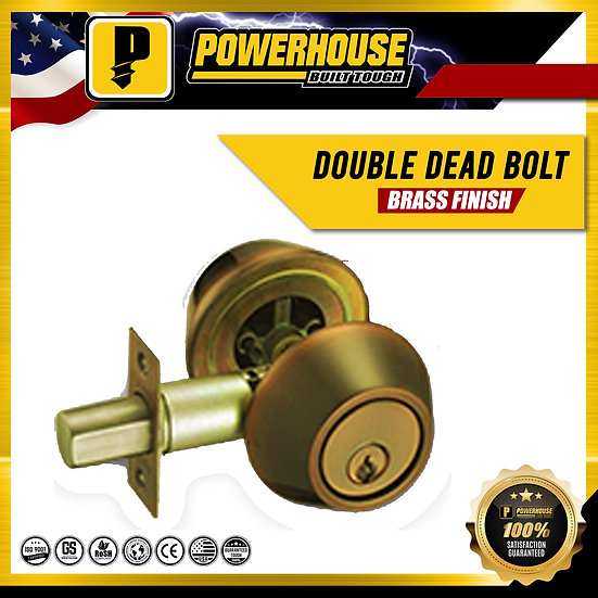 Double Deadbolt (Brass Finish)