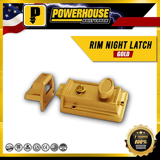 Rim Night Latch (Gold Finish)
