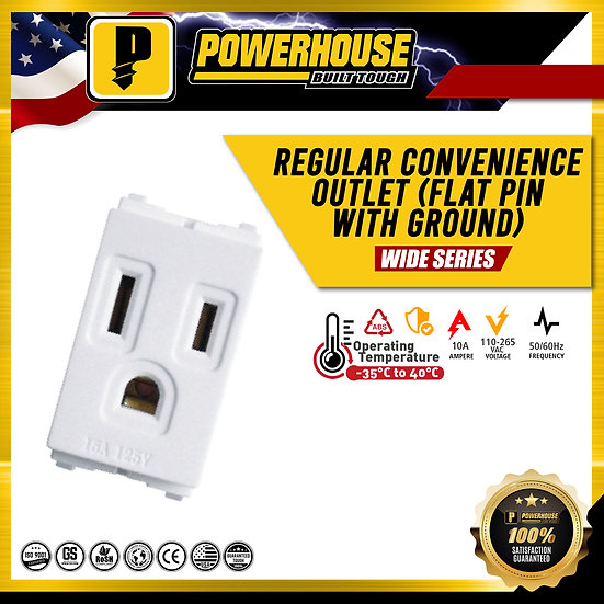 Regular Convenience Outlet (Flat Pin with Ground)