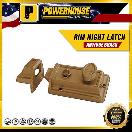 Rim Night Latch (Antique Brass Finish)