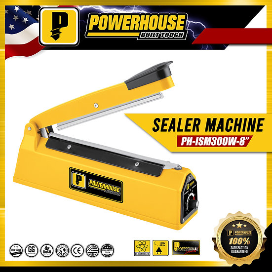 "PowerHouse Impulse Sealer Machine w/ High Temperature Resistance (PH-ISM300W-8"")"