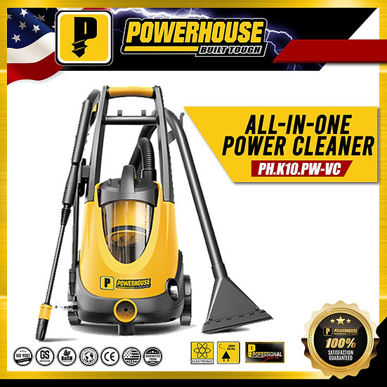 PowerHouse All in One Power Pressure Washer w/Vacuum 1,200 W (PH-K10-PW-VC)