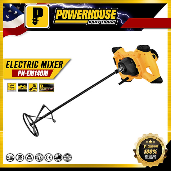 "PowerHouse Electric Mixer 900W w/ 20"" Shaft Length"
