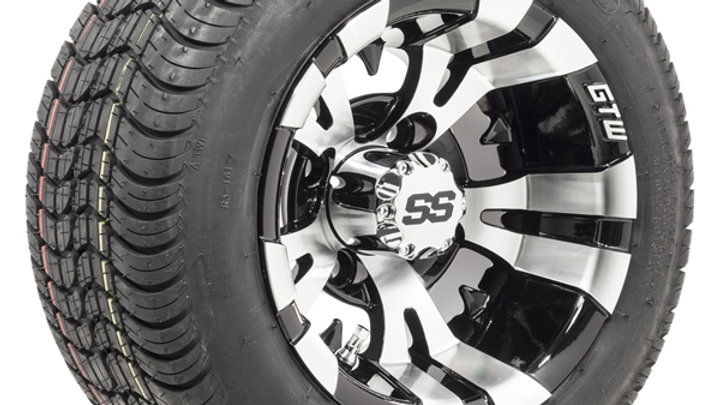 10� GTW Vampire Wheels on Mounted on Duro Lo-Pro Street Tires Set of 4